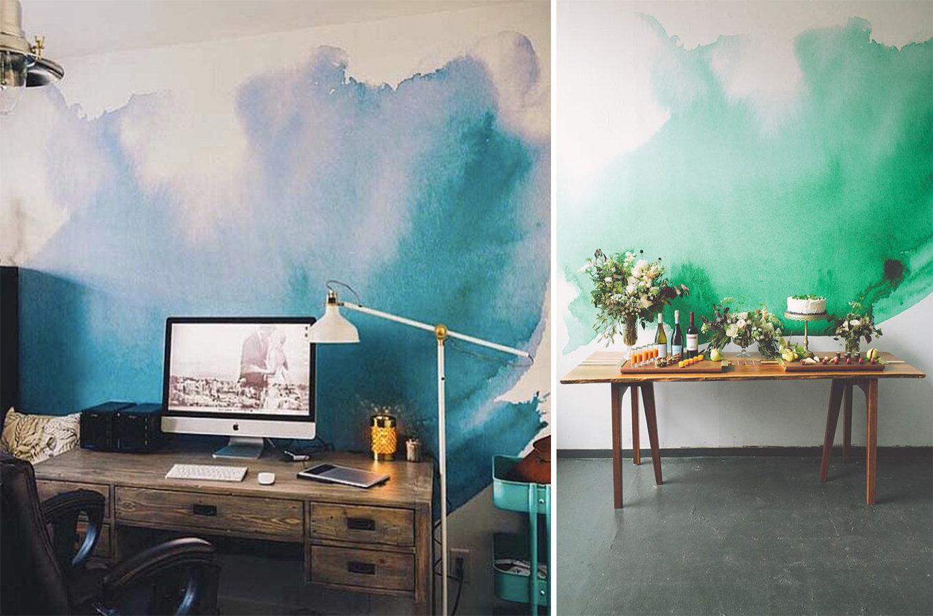 Watercolor-splash-on-the-wall