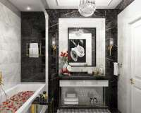 Elegant bathroom in neoclassics